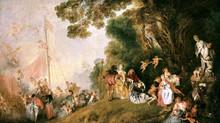 La acción del lenguaje pictórico y musical: La isla alegre de Debussy y Embarquement pour chytère de