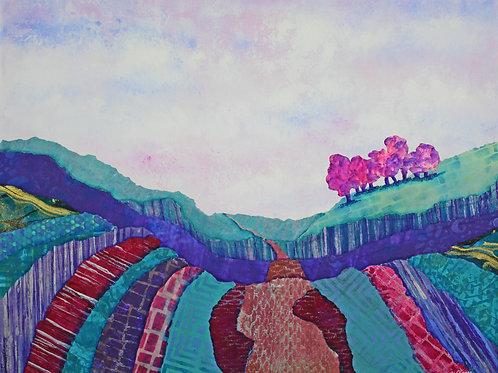 The Road Less Traveled original mixed media painting