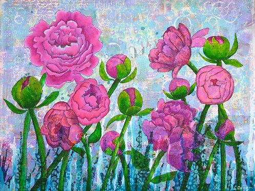 Pink Punch original mixed media painting