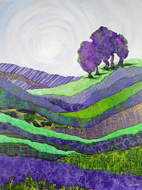 Symphony for Terra Firma original mixed media painting