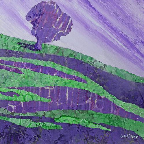 Purple Ponderance original mixed media painting
