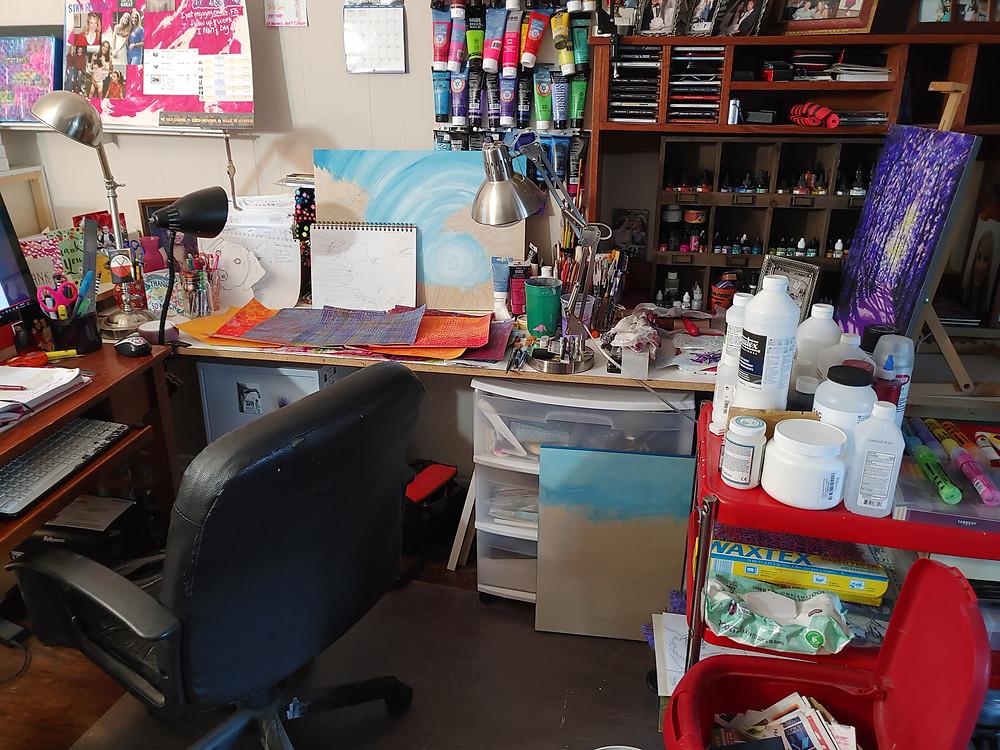 Lisa Crisman's Studio artist studio