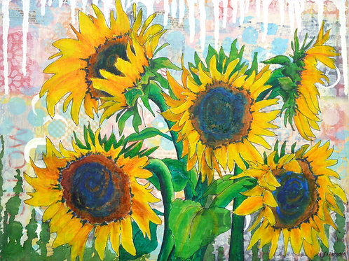 Funflowers canvas print