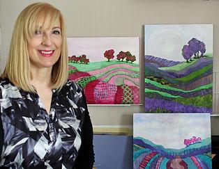 Lisa in her studio