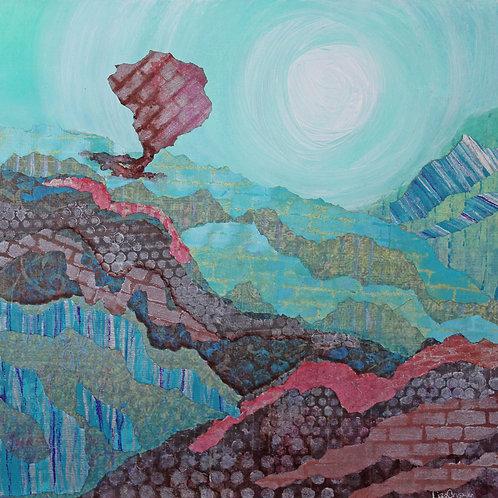 Sun Baked original mixed media painting