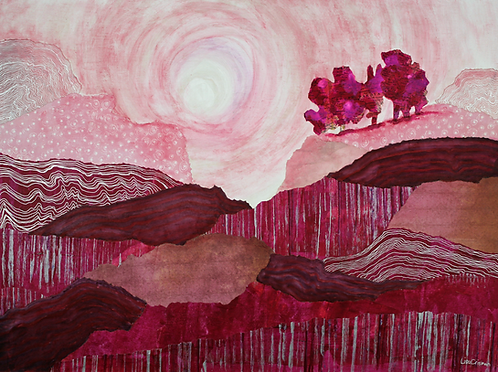 South Dakota Road Trip original mixed media painting