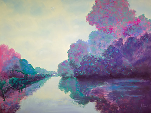 Kaleidoscope Float original pastel painting