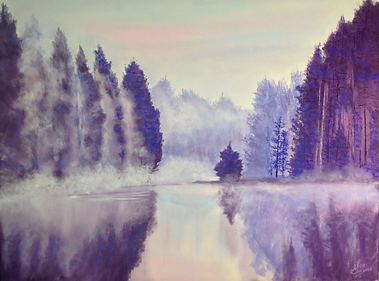 Rolling In Original pastel painting