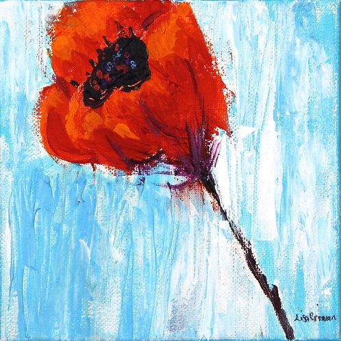 Poppy 2 original painting