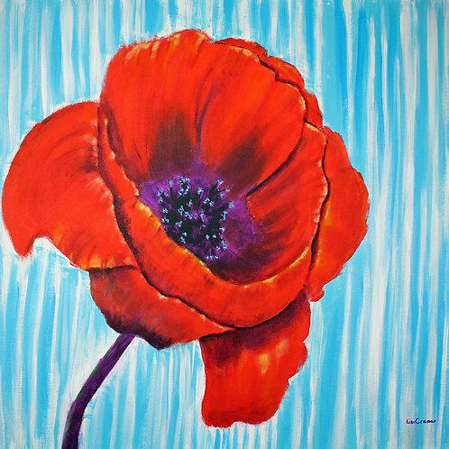 My Happy Poppy original acrylic painting