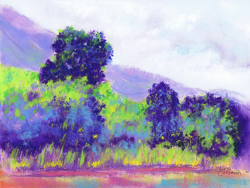 Playtime original pastel painting