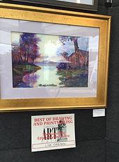 Best of Drawing award at art fair