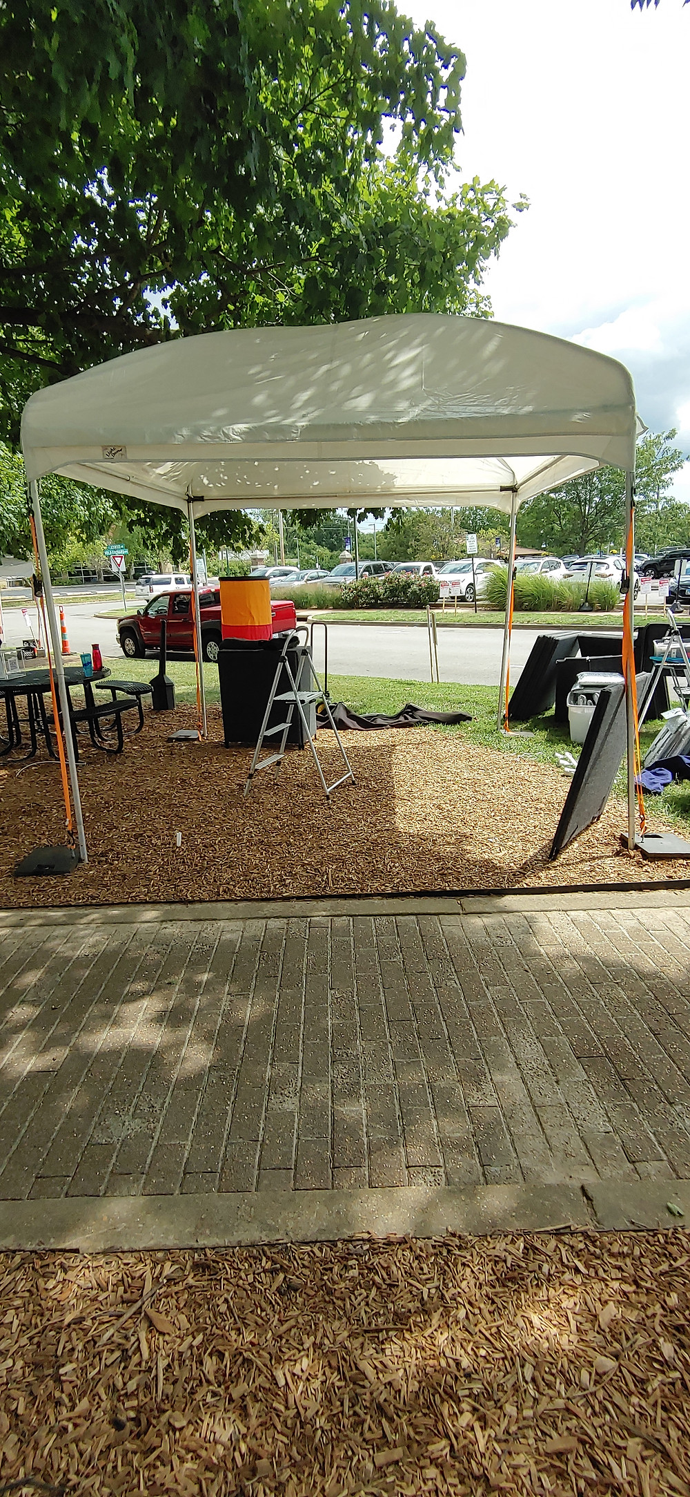 Lisa's tent and canopy