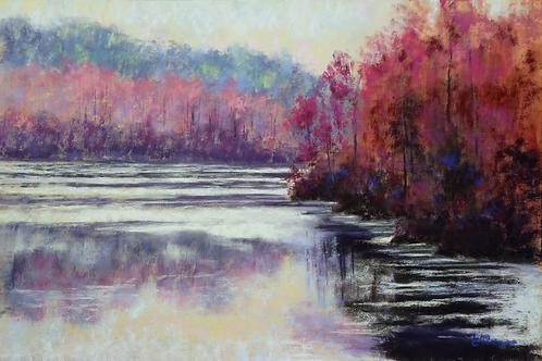 Morning Blush pastel painting