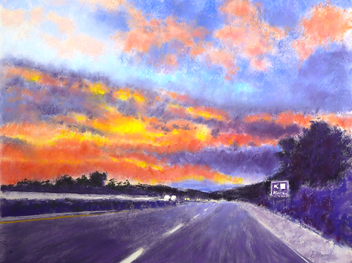 Going Home original pastel painting