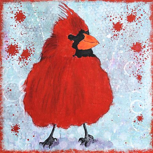 Cardinal Nation painting