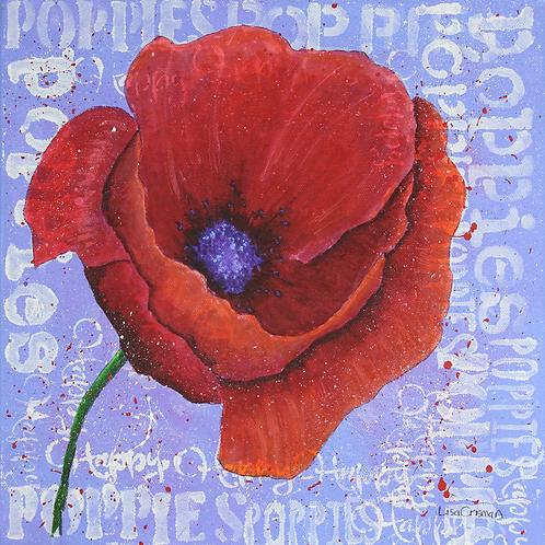 Happy Poppy original painting