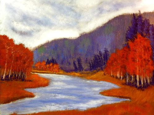 Aspen Air original pastel painting