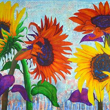 Sunflowers for Elise canvas print