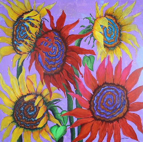 Sun Gogh original sunflower painting