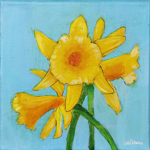 Daffodils 2 original acrylic painting