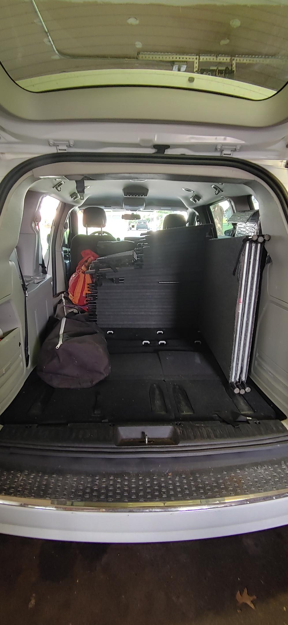 Halfway loaded van