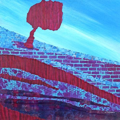 Earth Day original mixed media painting