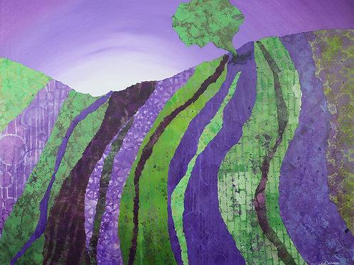 Lyrical original mixed media painting