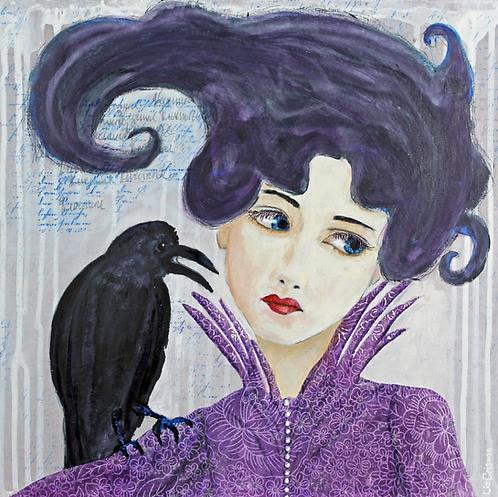The Raven was Relentless original painting