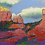 Red Rocks original pastel painting