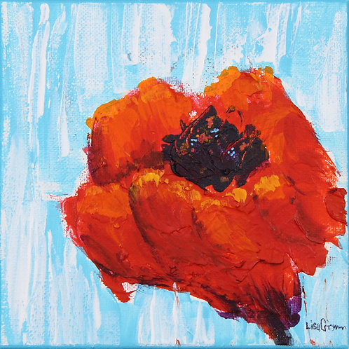 Poppy 1 original painting
