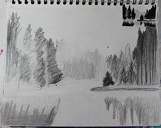 landscape sketch, artist sketch
