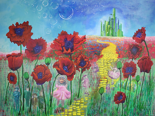 A Munchkin Welcome original painting Wizard of Oz