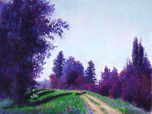 Nine Miles Out original pastel painting