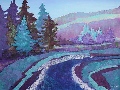 Rocky Mountain Way original mixed media painting