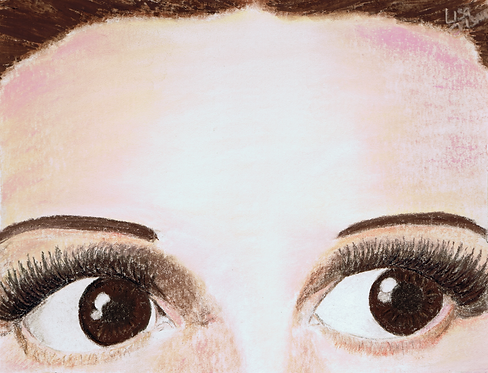 Oh My!  Dorothy Wizard of Oz eyes painting