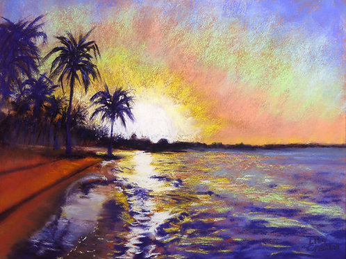 Sunset on the Sea fine art print