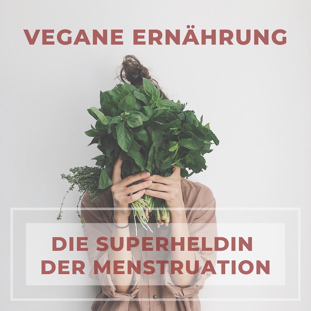 Vegane Ernährung Superheldin der Menstruation mitbauchgefuehl