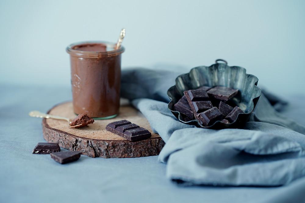 Veganes Mousse aus Chocolat aus Aquafaba