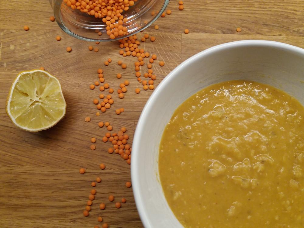 Rote Linsen Suppe (vegan)