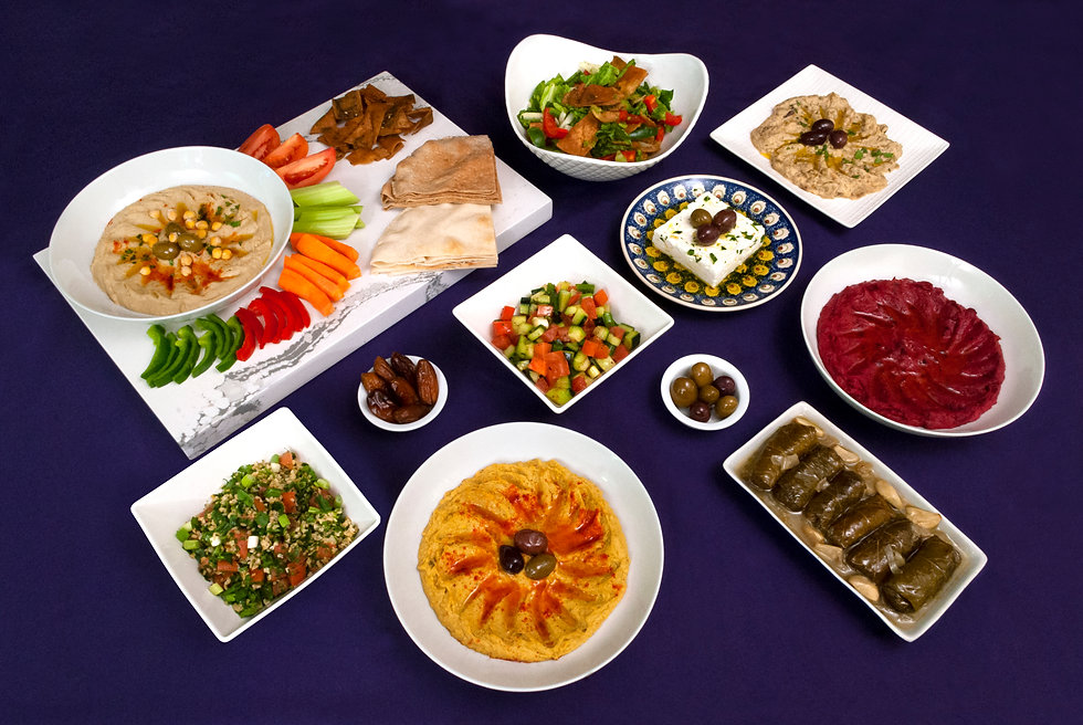 Hummus and other offerings.