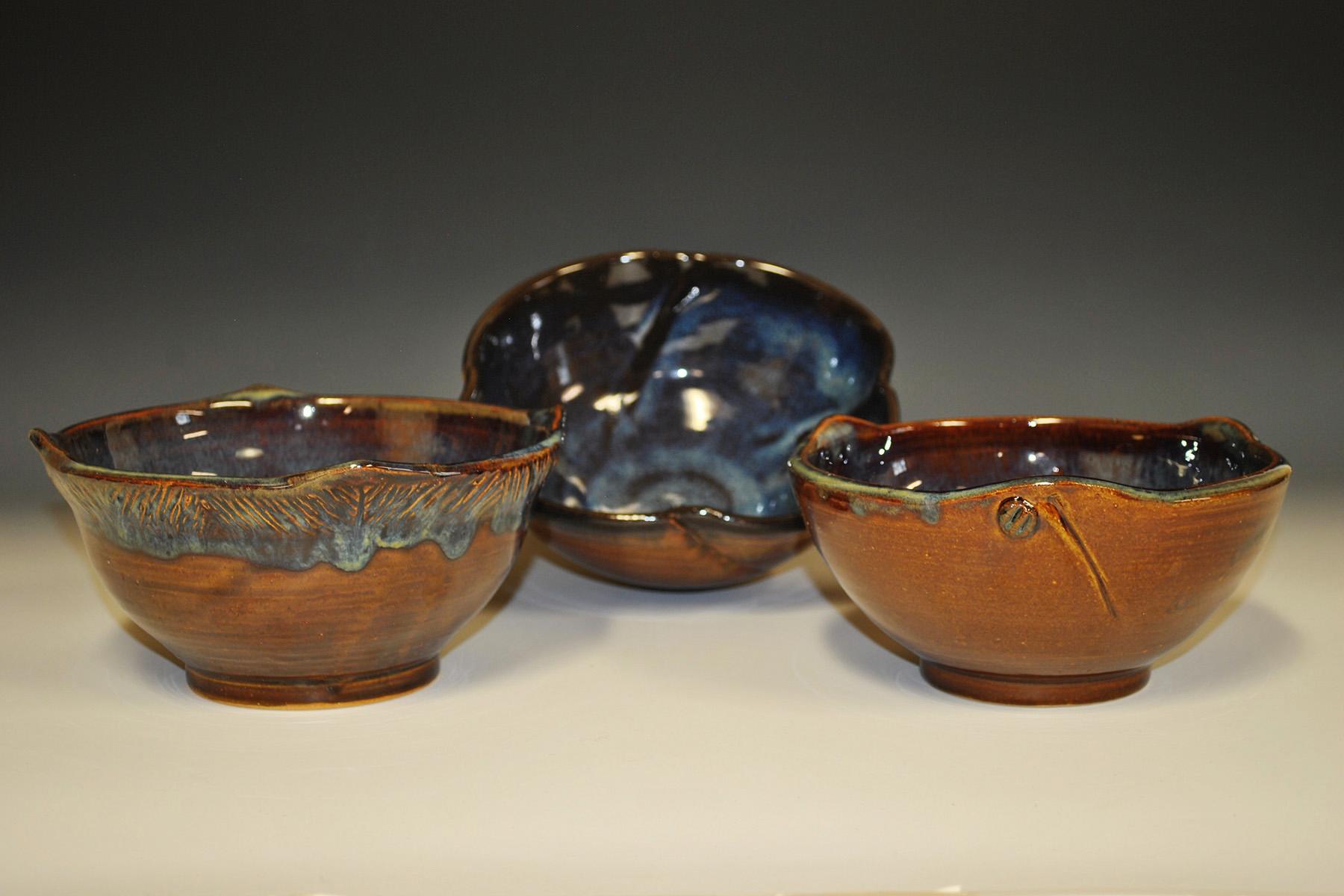 15 speckled bowls