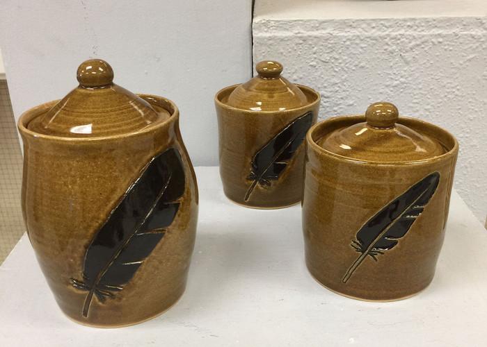 Set of 3 Lidded Forms