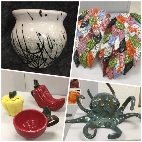 Introduction to Ceramics Student Examples