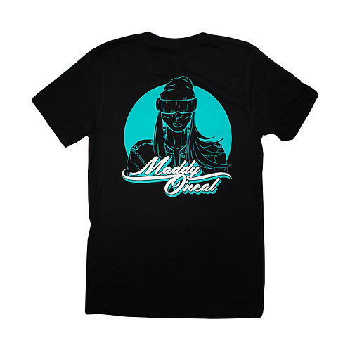 Maddy O'Neal - Black and Turquoise T-Shirt