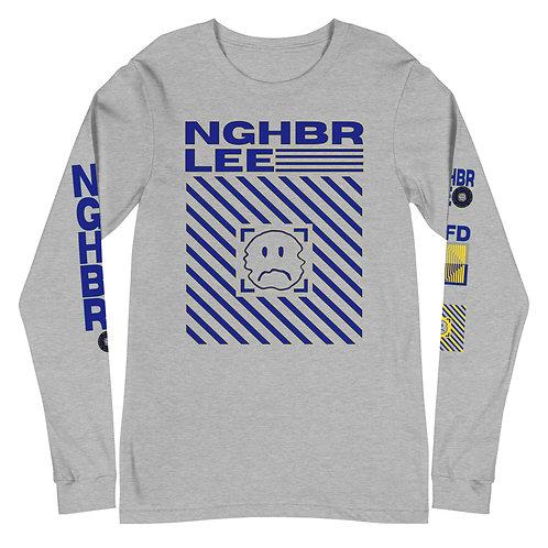 NGHBR Blue Unisex Long Sleeve Tee