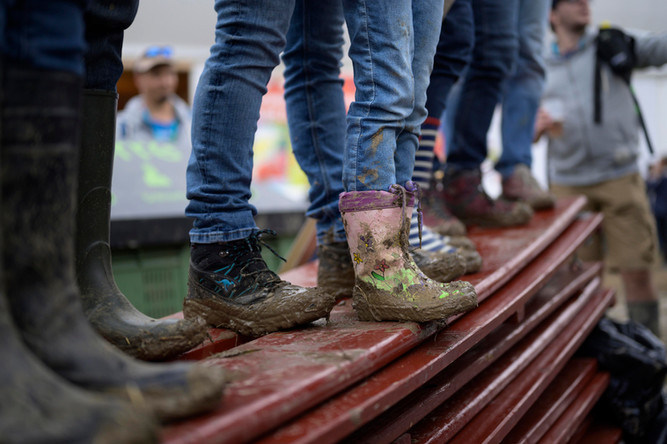 Les pieds dans la boue, Paléo Festival Nyon, Juillet 2019