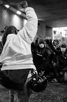 On the knees, BLM, Juin 2020