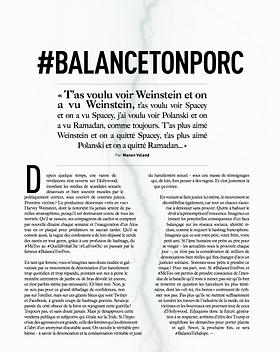 BalanceTonPorc - Trajectoire Magazine - Manon Voland