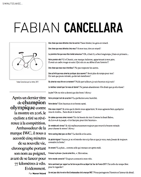 Fabian Cancellara Interview - Trajectoire Magazine - Manon Voland